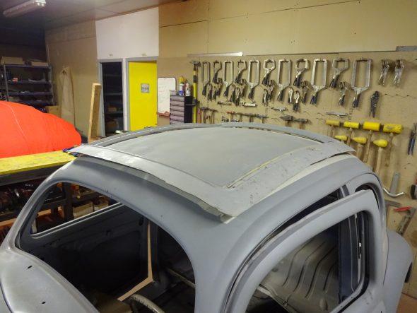 pose d'un toit découvrable VW Coccinelle-102