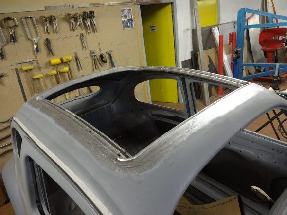 pose d'un toit découvrable VW Coccinelle-120