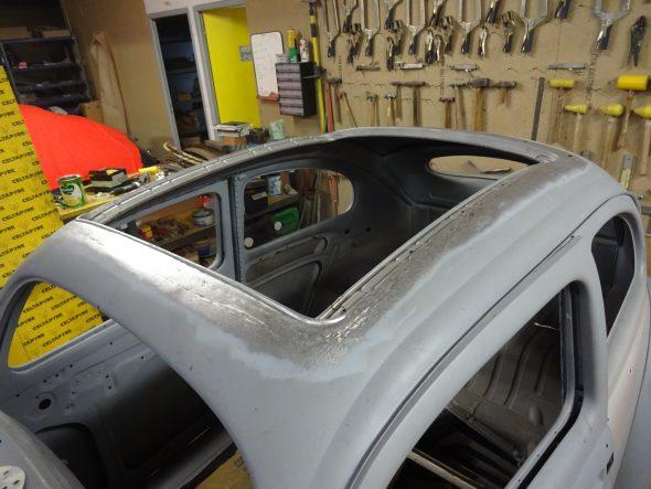 pose d'un toit découvrable VW Coccinelle-124